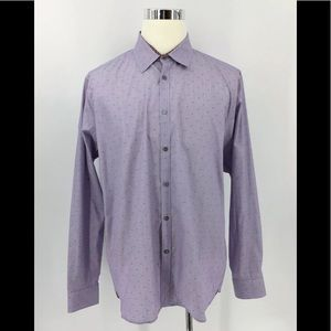 Ted Baker London Pattern Button Up Shirt Size 17,5